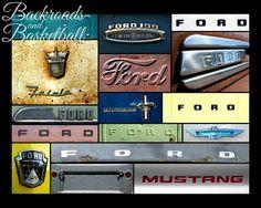 Ford logos Collage fine art home decor wall by Backroadsandbball, $20.00