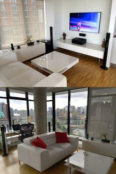 Triple monitor battlestation via reddit user ljohnson72 for Room decor ideas reddit