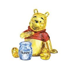 "Swarovski Crystal ""Winnie the Pooh and Honey Jar"""