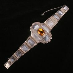 Stunning Victorian Scottish Agate bracelet