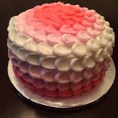 Ombré pink cake