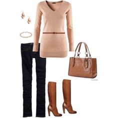 I don't usually choose any type of pink but this outfit is cute...love the boots