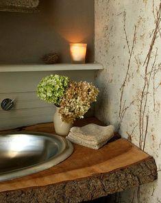 lavabo rustico de madera - Buscar con Google