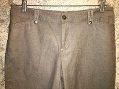 37.05$  Buy here - http://vikcy.justgood.pw/vig/item.php?t=1t2ivgk2247 - CHRISTOPHER & BANKS fine herringbone brown dress pants 6 mid rise straight leg