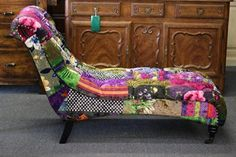 T&C Patchwork Chaise Chair A - 88C