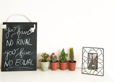 you have no rival, you have no equal (what a beautiful name, hillsong) lettering on chalkboard.
