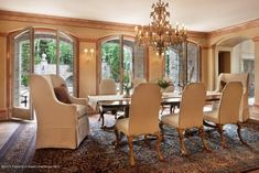 This regal dining room is fit for modern royalty. The head of every table should have a cozy arm chair to encourage hours lounging at the dining room table. This Aspen, CO hideaway is listed by Carrie Wells with Coldwell Banker Mason Morse.