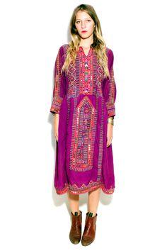Vintage Purple Afghani Dress XS/S/M/L by TavinShop on Etsy