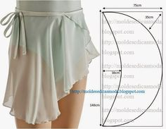 Ballet skirt, make longer for a everyday skirt Diy Clothing, Sewing Clothes, Clothing Patterns, Dress Patterns, Sewing Patterns, Fashion Mode, Diy Fashion, Fashion Sewing, Sewing Hacks