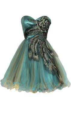 peacock!!! Thanks Ariel! DREAM DRESS!