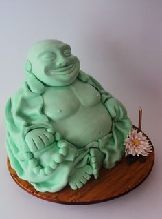 Jade Buddha Cake - All cake, I sculpted his belly and man boobs from RTR ;-)