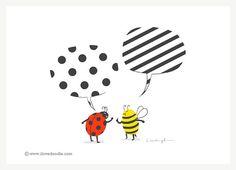Polka Dots Vs Stripes Kunstdruck von ilovedoodle auf Etsy