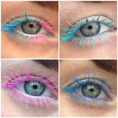 On Trend Colour Lashes! I loved created these colourful eyelashes at work and I think it's a simple but effective way to create something original and fun with with your makeup look or maybe make up artists can create a look for an up close creative shoot? or maybe you have a festival coming up soon? Either way I LOVE this look and you will most certainty be turning heads with these lashes!