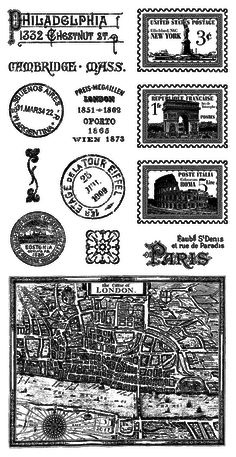 Graphic 45 - Cityscapes - Cling Stamp 2