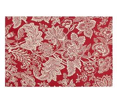 Layla Palampore Indoor/Outdoor Rug - Red #potterybarn