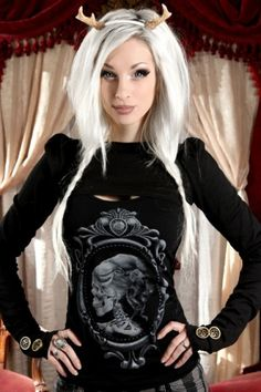 Steampunk Couture Black Puffed Sleeved Skinny Shrug
