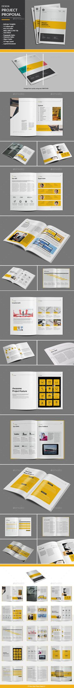 Design Project Proposal Template #design Download: http://graphicriver.net/item/design-project-proposal-template/13093160?ref=ksioks