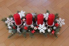 Advent, Christmas Crafts, Centerpieces, Diy Crafts, Home Decor, Candle Arrangements, Xmas, Manualidades, Noel