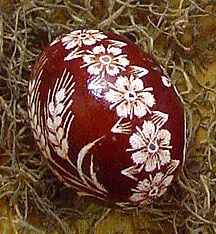 Lithuanian Easter Eggs - etched 'marguciai'