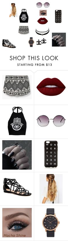 """""""Bohemian Princess"""" by katiemarie96 on Polyvore featuring MANGO, Lime Crime, Monki, J.Crew, Charlotte Russe, Johnny Loves Rosie and Marc Jacobs"""