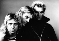 The Police - why does Sting look like a vampire?