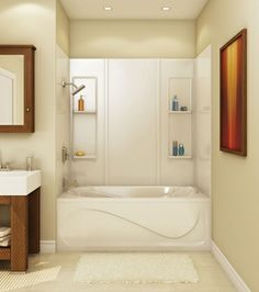 MAAX Tub Installation | TSTEA60 Alcove or Tub showers bathtub ...