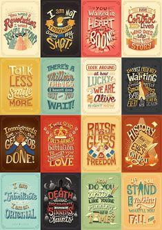 a pack of Hamilton (yesh, thts a musical, stupid) posters Hamilton Quotes, Hamilton Fanart, Hamilton Poster, Typography Quotes, Graphic Design Typography, Rotulação Vintage, Lyric Quotes, Lyrics, Hamilton Wallpaper