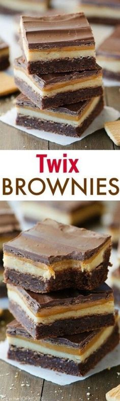 twix brownies, dessert, chocolate, caramel is part of Desserts - Brownie Desserts, Brownie Recipes, Easy Desserts, Health Desserts, Desserts Caramel, Brownie Ideas, Baking Desserts, Brownie Bar, Health Foods