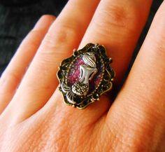 Mermaid Ring / Mermaid Jewelry / Mermaid Cameo / by SugarKookiez, $15.00