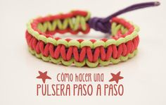 Pulseras: vídeo tutorial para hacer una pulsera de cordones. Una manualidad para niños muy divertida y facil