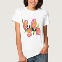Pink and Orange Roses T-Shirt