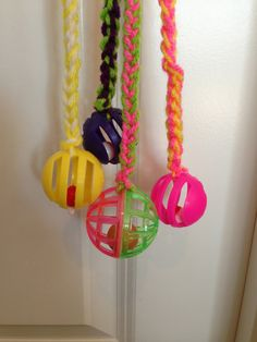 Cat toy  Colorful Fun Knitted Cat toy with Bell by HappyPAWStoyou