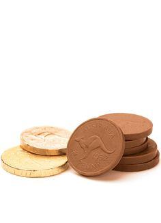 Milk Chocolate Gold Foiled Coins | Chocolate Box – Australian Chocolate & Gift Shop