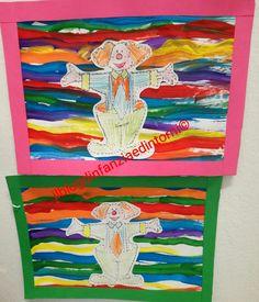 In questo periodo per il pregrafismo ci stiamo concentrando sulle linee orizzontali, e volevo far dipingere i bambini su supporti verticali ... Clown Crafts, Preschool Projects, Pre School, Holidays And Events, Diy Cards, Creative Art, Art For Kids, Things To Come, Halloween