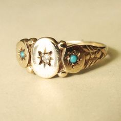 Vintage Turquoise and Diamond Victorian Gypsy Design by luxedeluxe