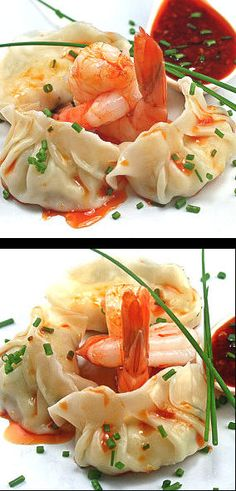 Light and airy shrimp dumplings