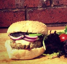Our pork and sage burgers - especially thrifty when pork mince can be found in the reduced aisle in the supermarket!