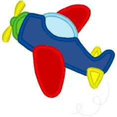 Colorful Plane Applique - 3 Sizes!