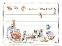 Letter Paper : The World of Peter Rabbit  1024*768 NO.14 Wallpaper