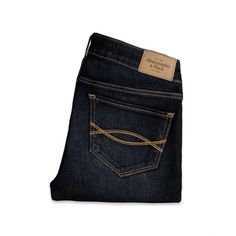 Abercrombie & Fitch Mid Rise Super Skinny Ankle Jeans ($39) ❤ liked on Polyvore