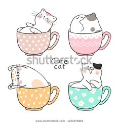 Find Draw Character Design Cute Cat Sleeping stock images in HD and millions of other royalty-free stock photos, illustrations and vectors in the Shutterstock collection. Cute Cat Sleeping, Sleeping Drawing, Draw Character, Doodles Bonitos, Doodle Cartoon, Cartoon Cats, Art Mignon, Clumping Cat Litter, Cats Musical