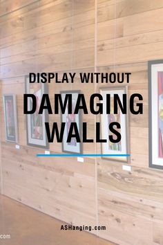 """The use of nails in hanging designs has become the culprit of damaged walls. With AS Hanging systems, you can preserve those memories or decorations without damaging the walls! """