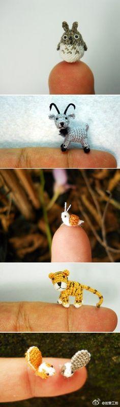 mini-mini crochês