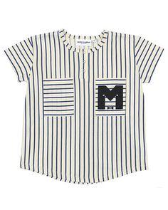 Super fede Mini Rodini Stripe Baseball T-shirt Mini Rodini Overdele til Børnetøj i behageligt materiale