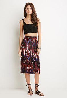 I love this.  Southwestern Print Midi Skirt   Forever 21 - 2000184442