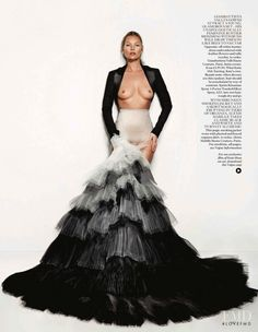 Feathers Will Fly in Vogue UK with Kate Moss wearing Alexis Mabille - (ID:8322) - Fashion Editorial | Magazines | The FMD #lovefmd
