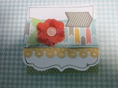 "3 x 3"" Note Card made from the Zoe Paper Packs- Item Number: X7197B"