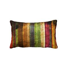 color stripes on wood pattern throw pillows