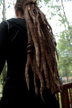 Love the locs! Dread Jewelry, Dread Beads, Faux Dreads, Dreadlocks, Natural Hair Accessories, Natural Hair Styles, Freeform Dreads, Dreads Styles, Dreadlock Hairstyles