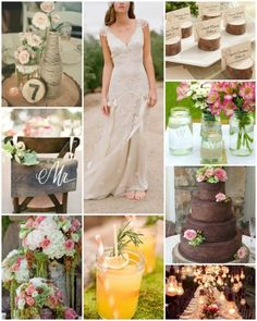 Check out the twine accents, the local wild flowers in mason jars, and the rough-hewn signage that has become so popular – it's hard to look at these cute little touches and not see them as beautiful for their elegance and simplicity.
